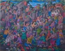 T-08 Lukisan Pasar Tradisional