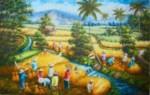 PD-012 Lukisan Panen Padi
