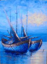 PM-04 Lukisan Perahu Nelayan