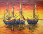 PM-02 Lukisan Perahu Nelayan