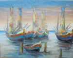 PM-03 Lukisan Perahu Nelayan