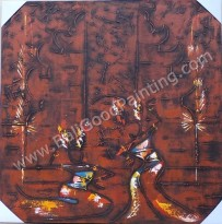 AT-16 Lukisan Abstrak Nuansa Bali