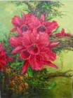 BG-07 Lukisan Bunga Lotus