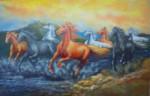 BN-02 Lukisan Palet Kuda