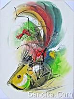 AT-04 Lukisan Abstrak
