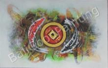 AT-19 Lukisan Abstrak Yin Dan Yang
