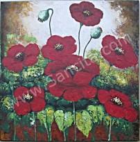 BG-11 Lukisan Bunga Kembang Sepatu