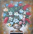 BG-10 Lukisan Bunga Unik
