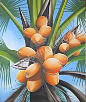 B-02 Lukisan Pohon Kelapa