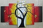 P5-04 Lukisan Minimalis Set / Panel Set Pohon