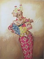 PB-11 Lukisan Penari Legong Bali