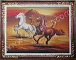 BN-04 Lukisan Kuda + Pigura