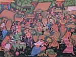 T-17 Lukisan Pasar Gaya Ubud