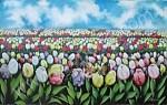 BG-16 Lukisan Bunga Tulip