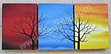 P3-24 Lukisan Minimalis Set / Panel Set Pohon