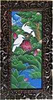 BR-10 Lukisan Burung Jalak + Pigura