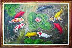 K-20 Lukisan Palet Ikan Koi