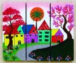 P3-26 Lukisan Panel Set Rumah