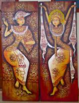 PB-28 Lukisan Sepasang Penari Bali