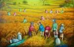 PD-039 Lukisan Panen Padi