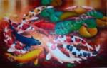 K-24 Lukisan Ikan Koi 9 Ekor
