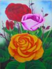 BG-25 Lukisan Bunga Mawar
