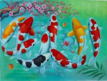 "K-23 Lukisan Ikan Koi Berbentuk Huruf ""Allah"""
