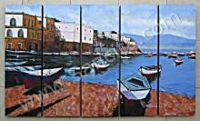 P5-06 Lukisan Panel Set Kota Venesia