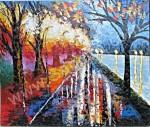 AT-20 Lukisan Abstrak Taman