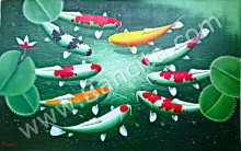 K-26 Lukisan Ikan Koi