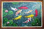K-21 Lukisan Palet Ikan Koi
