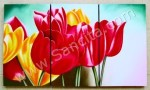 P3-29 Lukisan Panel Set Bunga Tulip