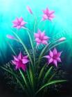 BG-30 Lukisan Bunga Lily