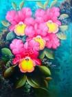 BG-28 Lukisan Bunga Anggrek