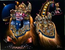 T-10 Lukisan Tarian Barong Bali