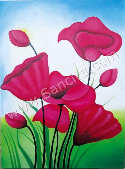 Bg 36 Lukisan Bunga Sallas Sancita