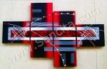 P4-41 Lukisan Minimalis Set / Panel Abstrak