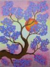 BG-40 Lukisan Bunga Sakura