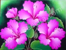 BG-38 Lukisan Bunga Kembang Sepatu