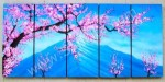 P5-08 Lukisan Panel Set Bunga Cherry Blossom