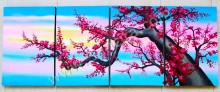 P4-45 Lukisan Panel Set Bunga Cherry Blossom