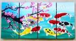 P4-46 Lukisan Panel Set Ikan Koi