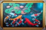 K-27 Lukisan Ikan Koi 9 Ekor