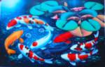 K-29 Lukisan Ikan Koi 9 Ekor