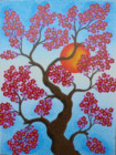 BG-44 Lukisan Bunga Sakura