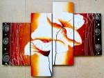 P4-47 Lukisan Minimalis Set / Panel Bunga Sallas