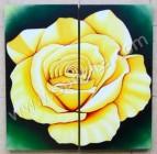 P2-02 Lukisan Minimalis Set / Panel Set Bunga Mawar