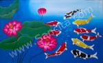 K-30 Lukisan Ikan Koi