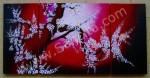 P3-37 Lukisan Minimalis Set / Panel Bunga Sakura