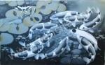 K-35 Lukisan Ikan Koi